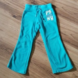 P.s. Aeropostale girls size 5 teal sweatpants